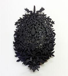 New jewelry by Fumiki Taguchi. © Fumiki Taguchi Piece: Untitled, 2015 plastic, paint Brooch/Pendant