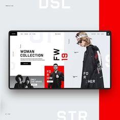 E-Commerce Web Design Сoncept Store by Alex Egorov. Minimal Web Design, Design Web, Layout Design, Design De Configuration, Design Social, Web Layout, Resume Design, Graphic Design, Logo Design