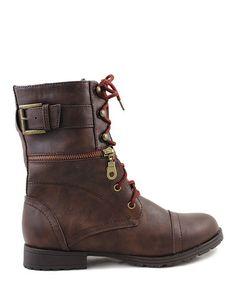 Look at this #zulilyfind! Brown Astro Boot by Liliana Footwear #zulilyfinds