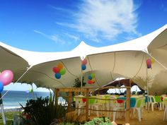 Transform your plain old driveway into a spectacular party venue, your patio into a dance hall, the club's field into a festival hall, or the beach into a weather-proof discotheque.  www.mavericktents.co.za