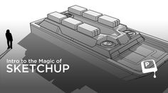 """Intro to Google Sketchup - Have you ever tried 3D modeling before? Many digital painters answer """"no"""" to this question, though even a small amount of 3D experience can make a huge impact on your paintings. This video introduces Google Sketchup as tool for drawing. As it states in the video, the word 'drawing' can mean many things - so if you're going to paint over it anyway, why not use some 3D modeling as a foundation for your work?"""