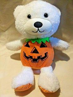 NWT~CARTERS~plush TEDDY BEAR Toy~HALLOWEEN~PUMPKIN~JACK-O-LANTERN~Baby Boys//girl