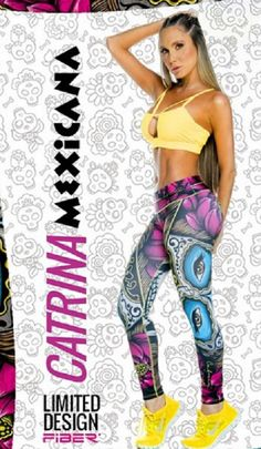 Catrina Mexicana Character Workout Pants Limited Edition - Blue&GreenSpot