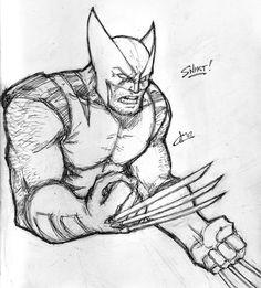 "Képtalálat a következőre: ""wolverine draw"" Wolverine Cartoon, Cartoon Silhouette, Face Sketch, Drawing Sketches, Sketching, Comic Kunst, Comic Art, Easy Horse Drawing, Hero Arts"