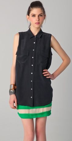 Equipment Signature Sleeveless Blouse: Still Want. Entirely too much.