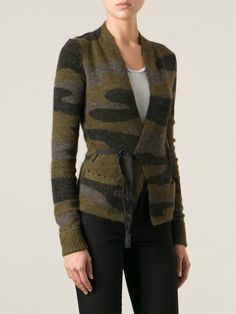 ~ ISABEL MARANT GREEN CAMOUFLAGE KNIT CARDIGAN SWEATER (SOLD OUT!) ~ 40 #IsabelMarant #sweater