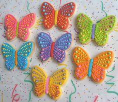 SPARKLE BUTTERFLIES Butterfly Cookies Butterfly by lorisplace