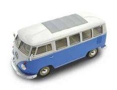 Welly 1:24 1962 Volkswagen Klassic Bus T1 Samba Bus blau/weiss Modellauto VW Bulli #vanlife #Geschenkidee (Affiliate-Link)