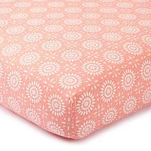 Levtex Baby Tivoli Coral Floral Fitted Crib Sheet