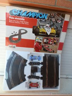 CAJA CON PISTA ELÉCTRICA CHAMPION A 501. ESCALA 1:32. POLISTIL MADE IN ITALY. AÑOS 80. (Juguetes - Slot Cars - Magic Cars y Otros) Pista, Slot Cars, Hot Wheels, Childhood, Soldiers, Toys, Slot Car Tracks, Infancy, Early Childhood