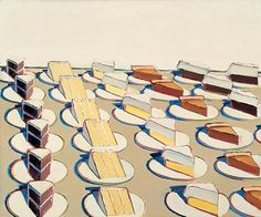 Wayne Thiebaud.  This is a deceptively simple painting.
