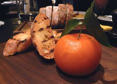 Meat fruit, by Heston Blumenthal, at Dinner, London, Uk