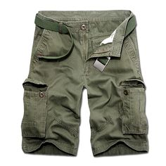 Summer High quality Mens Cargo Shorts Cotton Multi-pocket Shorts Men Clothing Boardshorts Casual Plus Size 29- 40 No Belt