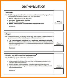 Self Appraisal Example | 8 Best Self Evaluation Employee Images Employee Appreciation