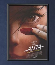 """Alita Battle Angel original """"War paint"""" movie poster available for sale. Movie Posters For Sale, Original Movie Posters, War Paint, Vintage Movies, Battle, Angel, The Originals, News, Painting"""