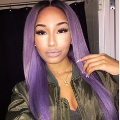 "Lavender Hair Maven @real.juicedupjinsui Is Slayed This Color Using 2-20""2-22"" Of Our Russian Blonde -Champagne Wave With A 16"" Lace Closure. Make Sure To Use The Code ""Karin"" On Your Next Purchase . yhasiluxuryhair.com #yhasihair #yhasigirl #teamyhasi"