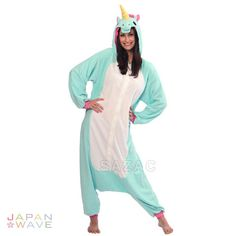 SAZAC BLUE Unicorn Kigurumi