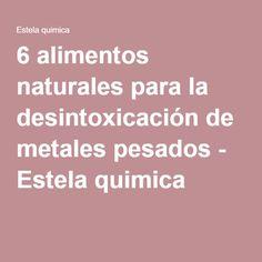 6 alimentos naturales para la desintoxicación de metales pesados - Estela quimica