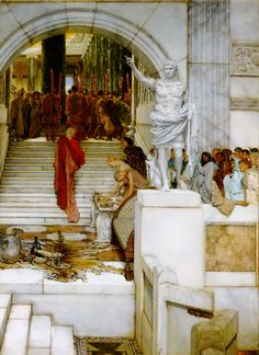 Buyenlarge 'After The Audience' by Sir Lawrence Alma-Tadema Graphic Art Size: H x W x D Lawrence Alma Tadema, Oil Painting On Canvas, Painting Prints, Art Prints, Painting Art, Rome Antique, Dutch Painters, Dutch Artists, Oil Painting Reproductions
