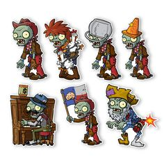 Zombies 2 Wall Decals: Special Front Yard Zombie Set II (Six Zombies 6 inches Longest Side) Zombie Birthday Parties, Zombie Party, Plants Vs Zombies, P Vs Z, Like A Rock, Tattoo Kits, Classroom Fun, Wild West, Holidays And Events