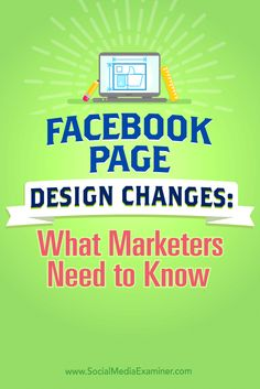 Is your Facebook page ready for the new design?  Wondering what's changing?  In this article, you'll discover how to prepare for the new Facebook page layout. Via @smexaminer.