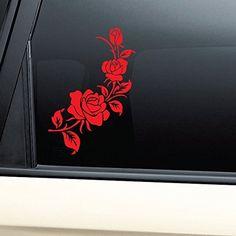 A Pair white Feather Car Bumper Van Window Laptop JDW VINYL Decals Stickers