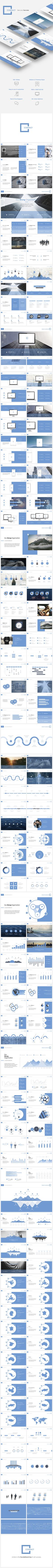 Contact Powerpoint  #chart #clean #corporate • Available here → http://graphicriver.net/item/contact-powerpoint/15876636?s_rank=140&ref=pxcr