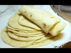 How to make Soft Flour Tortillas - Como Hacer Tortillas de Harina Recipes With Flour Tortillas, Homemade Flour Tortillas, Making Tortillas, Corn Tortillas, Mexican Dishes, Mexican Food Recipes, Ethnic Recipes, Diabetic Recipes, How To Make Flour