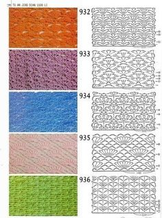 Delicadezas en crochet Gabriela: Esquemas gratis de muestras tejidas de ganchillo
