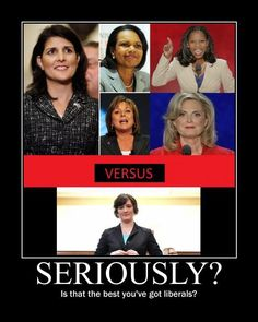 5 strong, beautiful, intelligent, accomplished, and I might add ethnically diverse, women vs 1 immature, whiny 30 year-old, white, political activist who wants the rest of us to pay for her birth control. No contest.