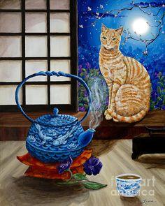 Blue Moon Tea by Laura Iverson