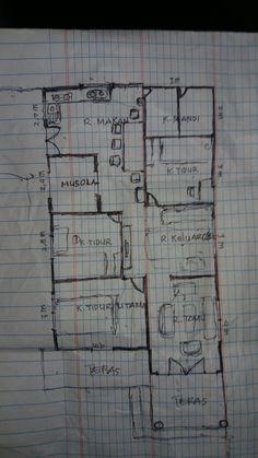 3d Home Design, House Design, Autocad, Home Decor, Arquitetura, Ideas, Flats, Drawings, Sketch