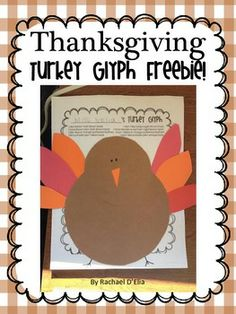 Cute Turkey Glyph Activity