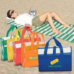 San Tropez Beach Mat. Made of tubular polypropylene. Includes inflatable pillow…