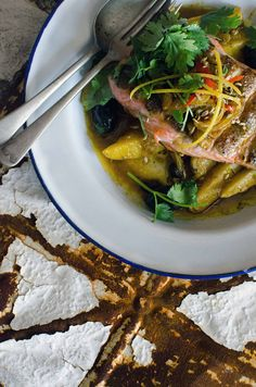 Ocean trout with Moroccan-spiced kipflers - I'll try with Salmon