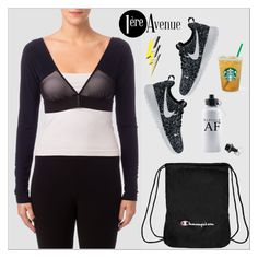 """""""Joseph Ribkoff"""" by premiereavenue-boutique ❤ liked on Polyvore featuring Joseph Ribkoff, Champion, NIKE, Anya Hindmarch, country, premiereavenue, premiereavenueboutique and JosephRibkoff"""