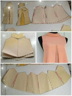 Ideas For Dress Pattern Free Sewing Moda Dress Sewing Patterns, Blouse Patterns, Clothing Patterns, Blouse Designs, Pattern Dress, Fashion Sewing, Diy Fashion, Ideias Fashion, Dress Fashion