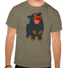 Cute Friendly Cartoon Rottweiler T-Shirt