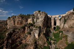 The Roman Bridge in Ronda, Spain in the region of Andalusia, Southern Spain.  What a view!