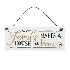 Family Hanging Plaque.  Available in store now. £3.75 each.