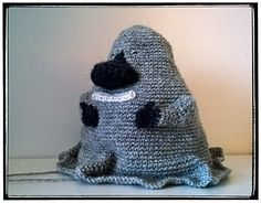 """The Groke (original Swedish name Mårran, Finnish: """"Mörkö"""") - free crochet pattern by Annina Päivärinta. A character in the Moomin stories created by Tove Jansson."""