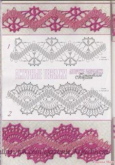 Mis Pasatiempos  Amo el Crochet: Modelos de puntillas decorativas