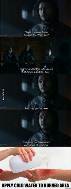 Jon Snow does know something...