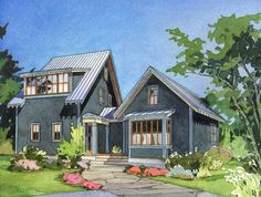 The Cherry One The Cherry One is a variation on the Alder Cottage plans series. The Cherry One comprises a main building with a shed dormer presented to both front and rear yards. The house also includes a master bedroom wing located on the main floor sep Lake House Plans, Cabin Plans, House Floor Plans, Dog Trot House Plans, Unique House Plans, Small House Plans, Small Cottage House Plans, Shed Building Plans, Shed Plans