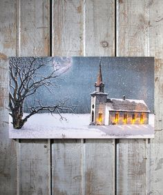 Loving this Candlelight Service Light-Up Canvas on #zulily! #zulilyfinds