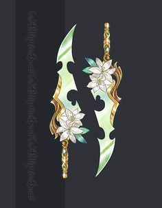 ~My weapons of choice~ Anime Weapons, Fantasy Weapons, Fantasy Dagger, Armes Concept, Espada Anime, Armas Ninja, Weapon Concept Art, Anime Outfits, Magical Girl