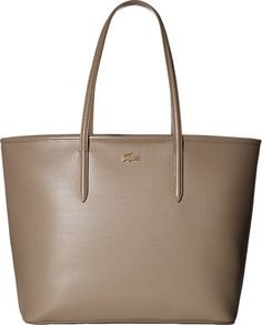 Lacoste Women's Chantaco Medium Tote Timber Wolf Tote. Made in USA or Imported.
