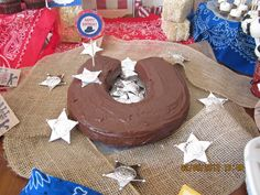 Horseshoe cake at a Cowboy Party #cowboy #party