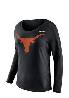 Nike Texas Longhorns Womens Tailgate Scoop Neck Tee