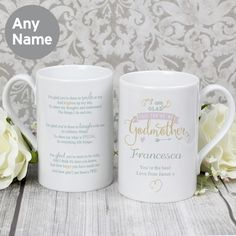 Slim Ceramic Mug Personalised Gift for Godmothers